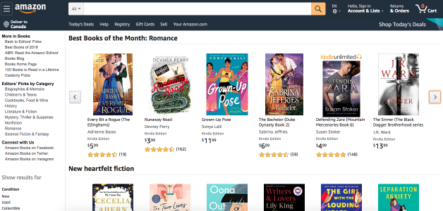 Amazon's Best Books of the Month: Romance March 2020